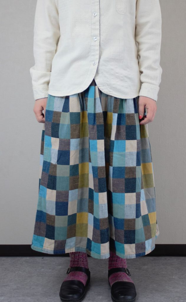 【BlueTrick】 カラーパッチスカート