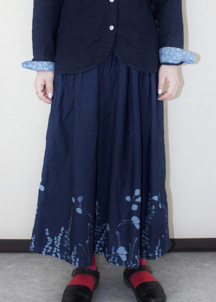 【BlueTrick】 花抜染スカート