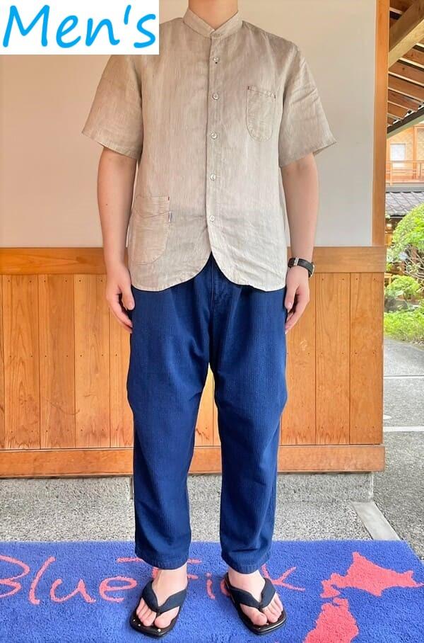 インディゴ刺子バルーンパンツ